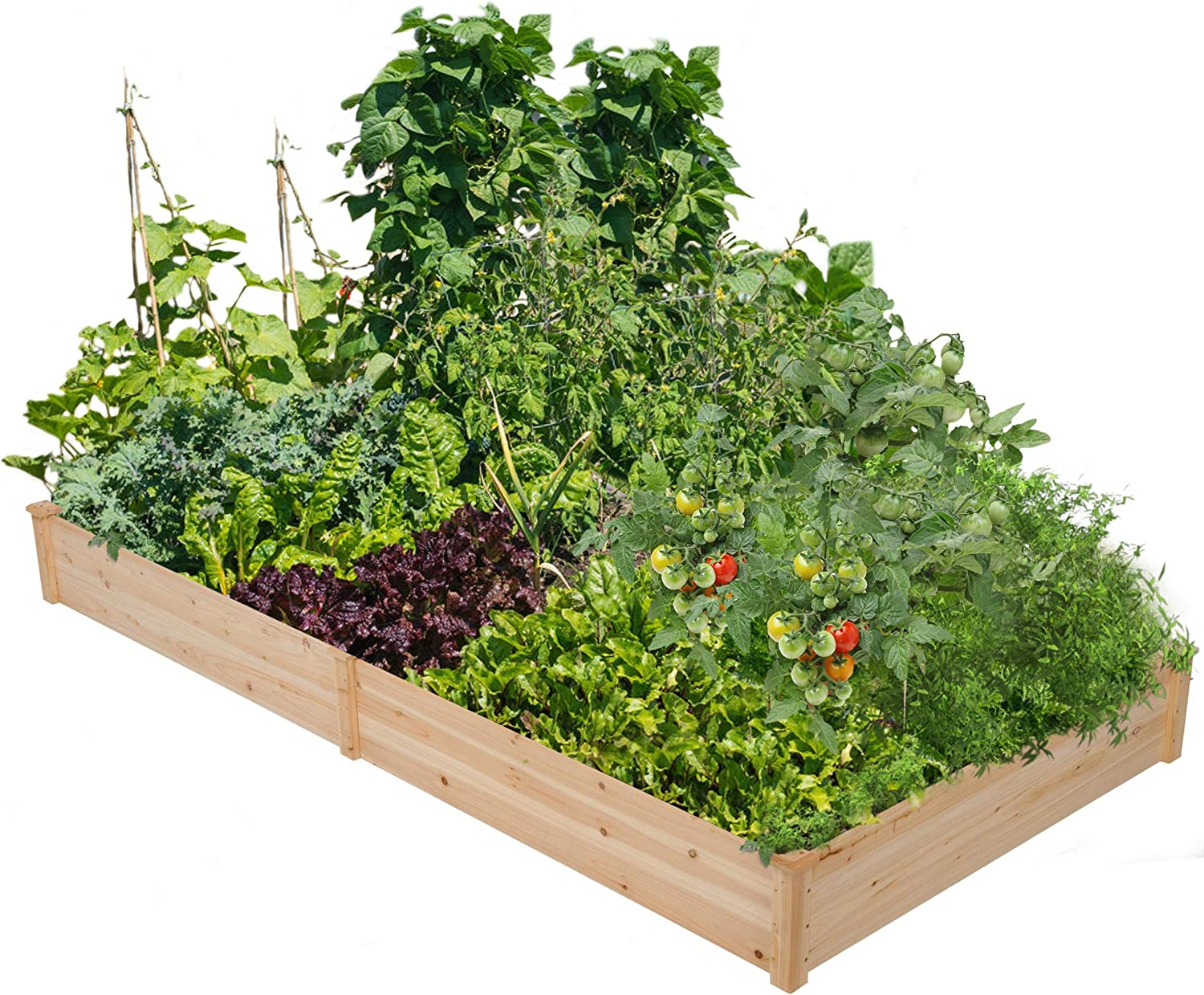 Amazon Com Yaheetech Wood Raised Garden Bed Boxes Kit Elevated