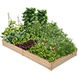 YAHEETECH Wood Raised Garden Bed Boxes Kit Elevated Flower Bed Planter Box for Vegetables Natural Wood 92.3 x 47.4 x 10…