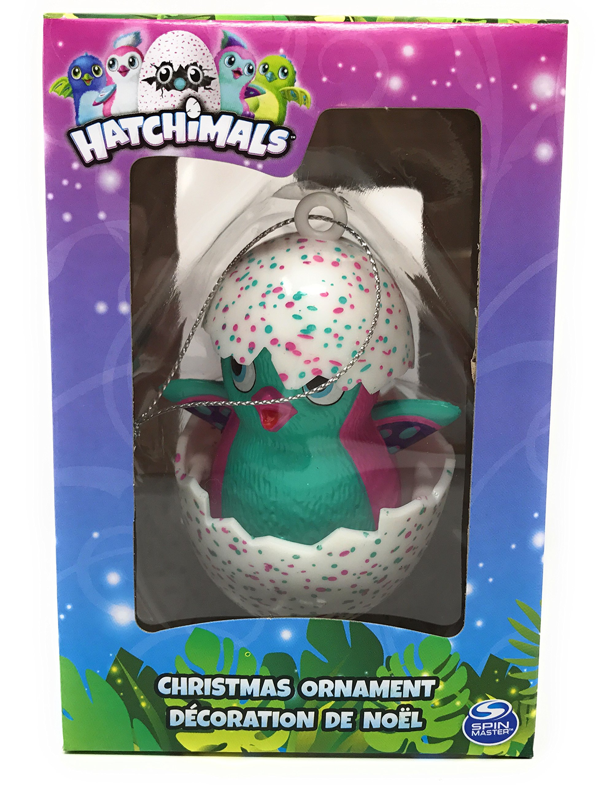 Hatchimals Pink and Teal Penguala Christmas Ornament