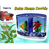 Happie Shop Venys Betta House Double With Ez Clean System, Plant Included In The Pack