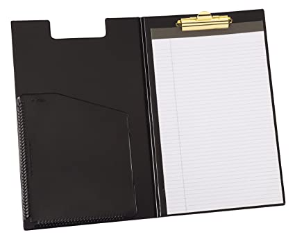 clipboard office paper holder clip. Cardinal Clip Folder Pad Holder, Legal Size, Includes Writing Pad, Black (253 Clipboard Office Paper Holder O