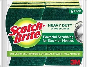 Scotch-Brite Heavy Duty Scrub Sponge, 6-Sponges