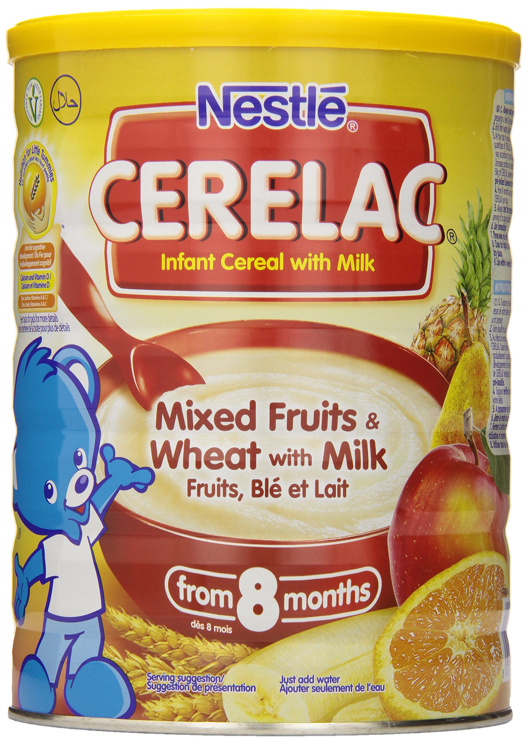 Nestle Cerelac Infant Cereal, Mixed Fruits & Wheat with Milk 1kg (35.27oz) by Nestle
