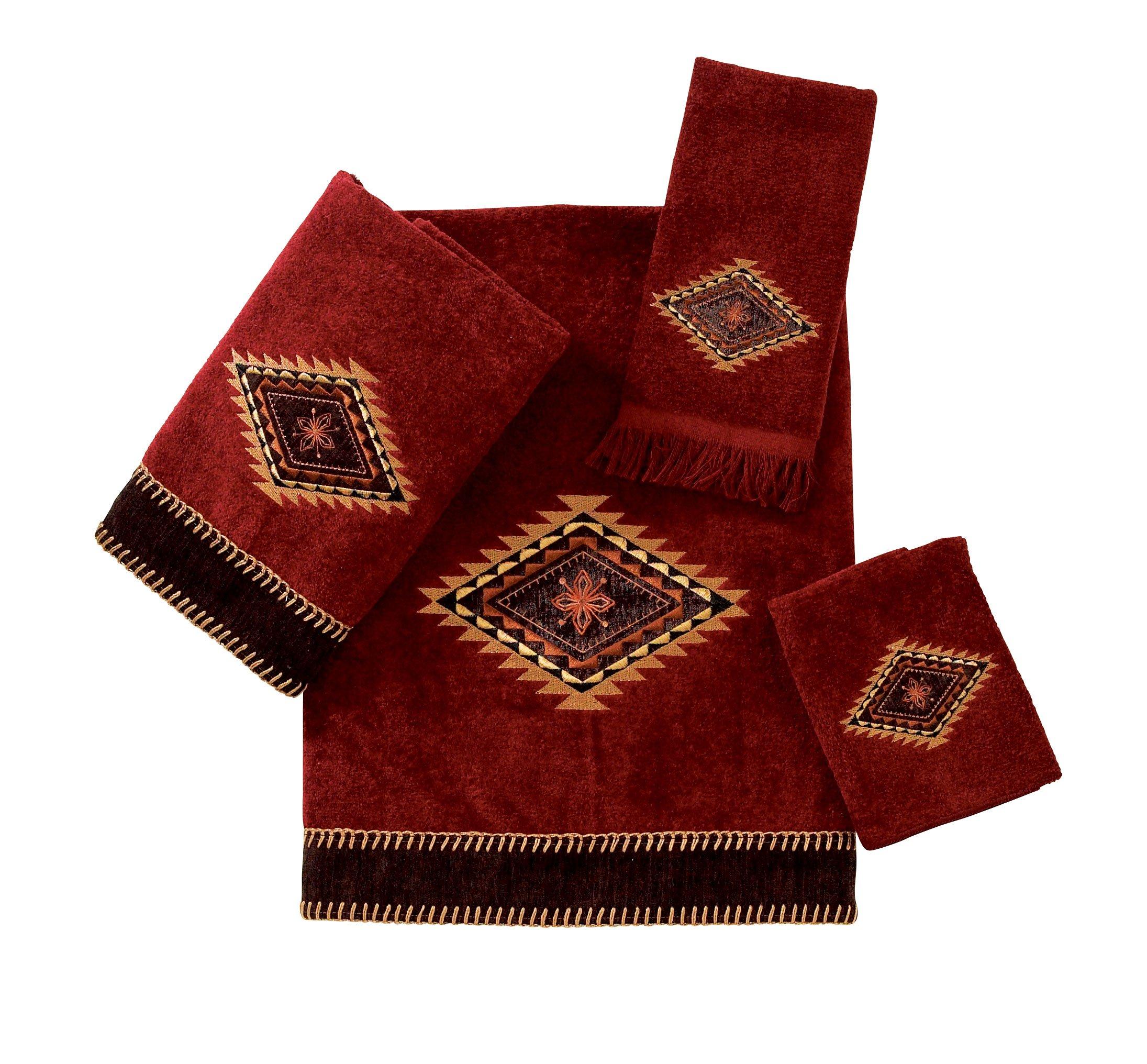 Avanti Linens Mojave   Embroidered 4-Piece Decorative Towel Set Brick