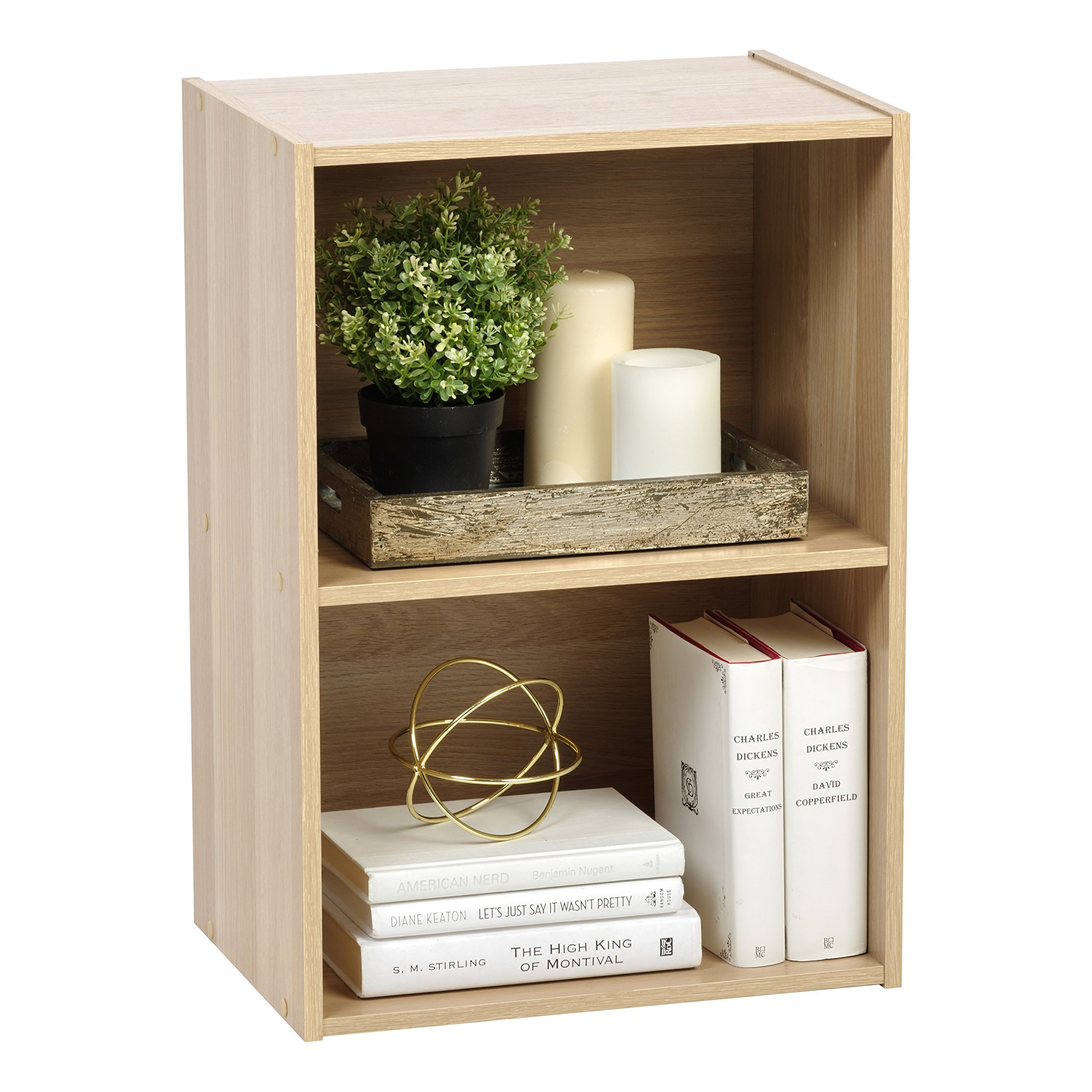 IRIS USA 596164 2-Tier Wood Storage Shelf, Light Brown by IRIS USA, Inc. (Image #7)