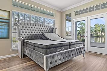 """Sven & Son King Hybrid Mattress 14"""" Bamboo Charcoal and Luxury Cool Gel  Memory Foam, Motion Isolating Springs, Certi-PUR Certified Non Toxic,  Designed"""