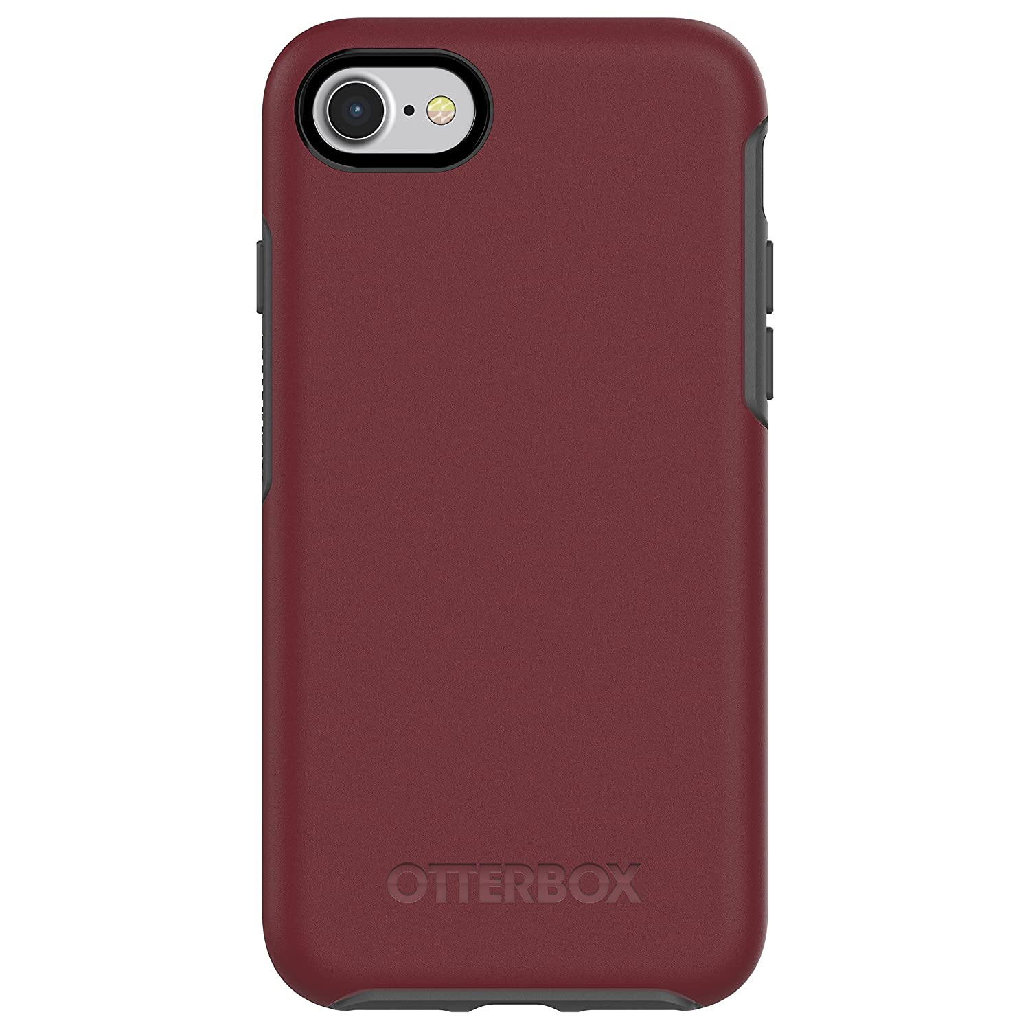 OtterBox SYMMETRY SERIES Case for iPhone 8 & iPhone 7 (NOT Plus) - Retail Packaging - FINE PORT (CORDOVAN/SLATE GREY)