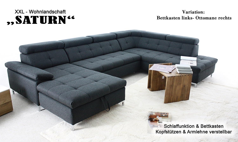 Liebenswert Wohnlandschaft Xxl Mit Schlaffunktion Sammlung Von Arbd Saturn Xxl-sofa, Hell-grau, U-form Und Bettkasten