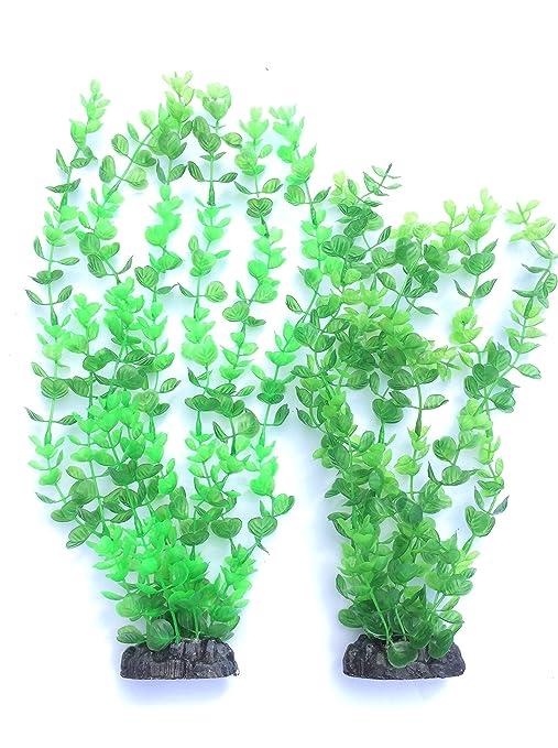 Grandes y pequeñas, Rotala Acuario plástico Plantas Fish Tank Decoración, Resistente, Apto para