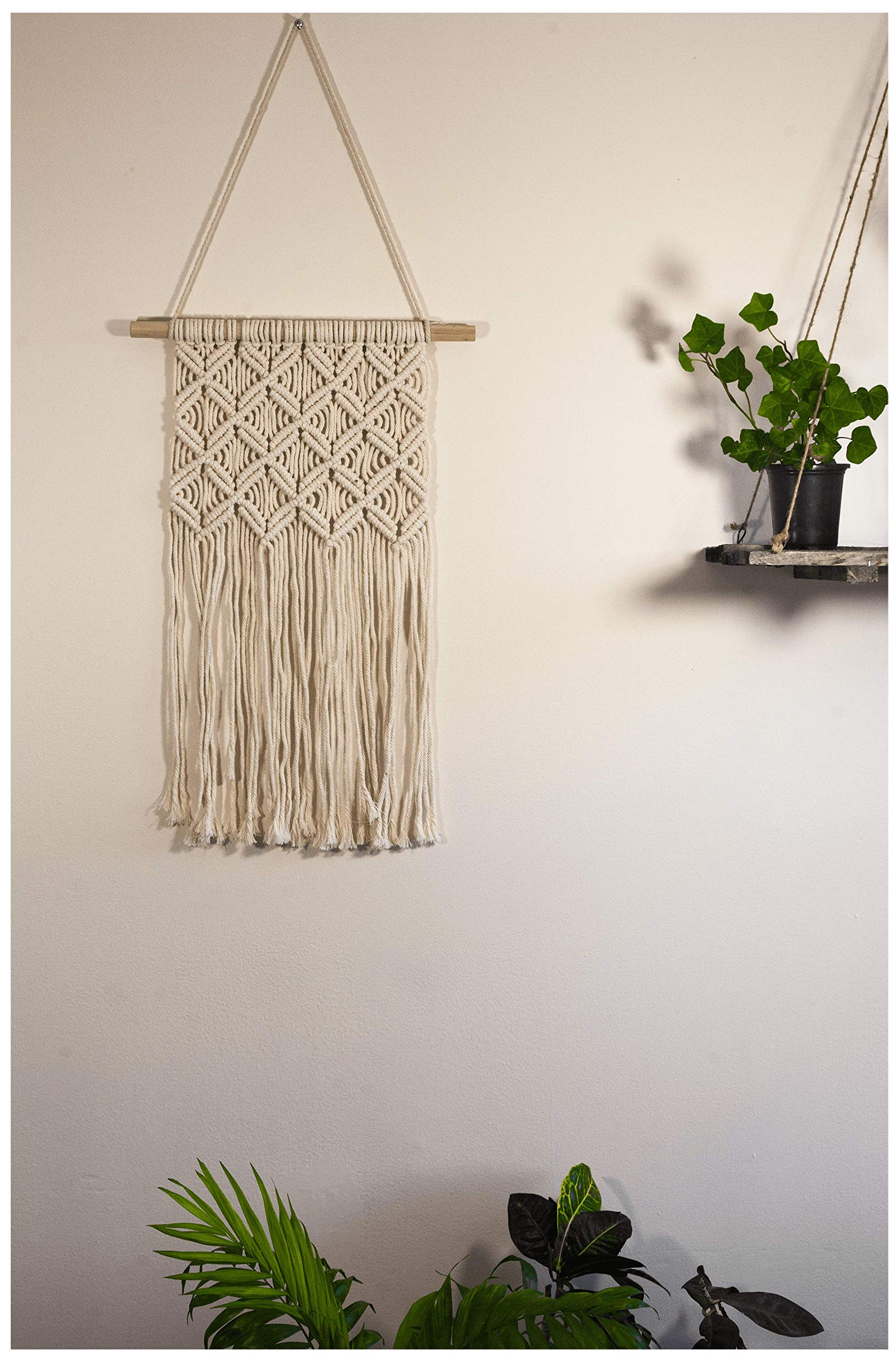 Macrame Wall Hanging, Macrame Curtain, Wall Tapestry, Rustic Home Decor, Bohemian Tapestry, (12Wx26L)