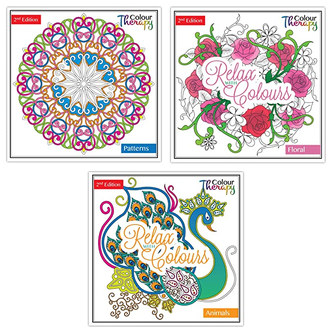 Serie Dos para terapia de color libro para colorear: Amazon.es ...