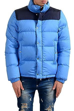 ec771210a Moncler Men s Blue Full Zip Down Parka Jacket With Detouchable ...