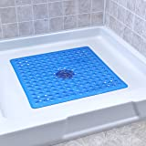 Deluxe Square Shower Mat - Blue