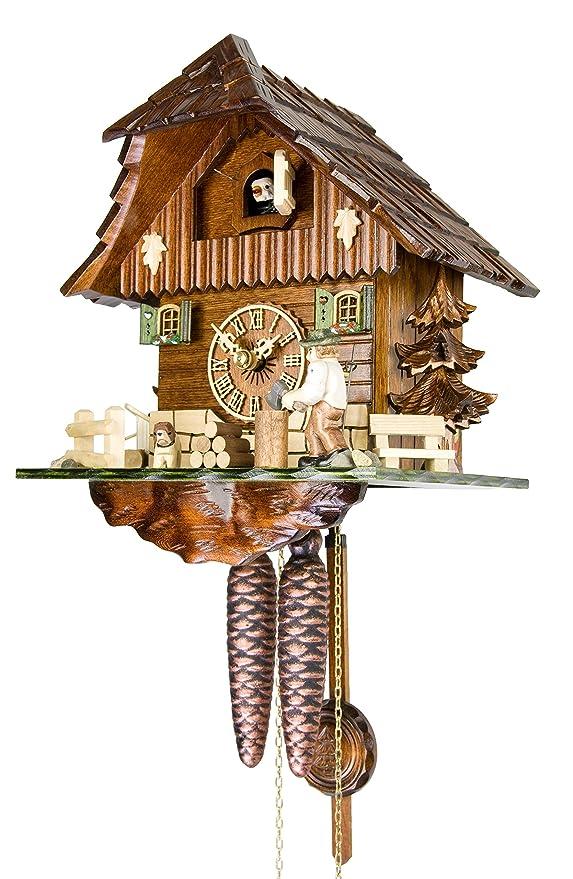Amazon.com: ISDD Adolf Herr Cuckoo Clock - The Busy Wood Chopper: Home & Kitchen