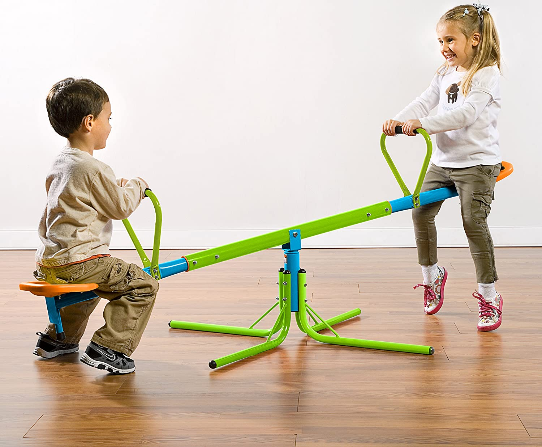 amazon com pure fun home playground equipment swivel seesaw