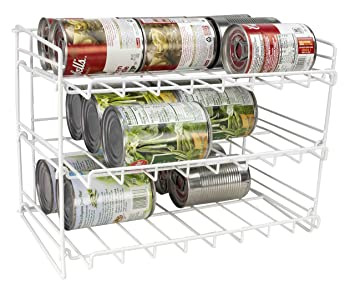 Lovely Home Basics Can Rack Organizer Food Storage Canned Food Soda Can Dispenser  For Cabinet Or Refrigerator