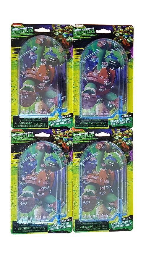 Amazon.com: Ninja Turtles Hand-held Pinball Game (Pack of 4 ...