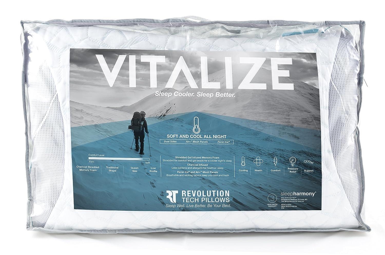 amazon com glideaway revolution tech pillow vitalize charcoal gel