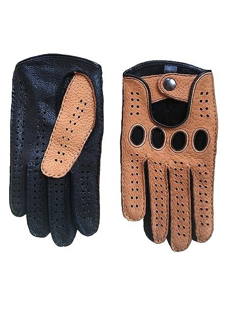 Amazon.com: Hombre Peccary conducción guantes color de ...
