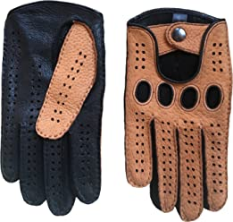 31bf0b0d94e94 Men's Peccary Driving Gloves Color Black Cork by Hungant