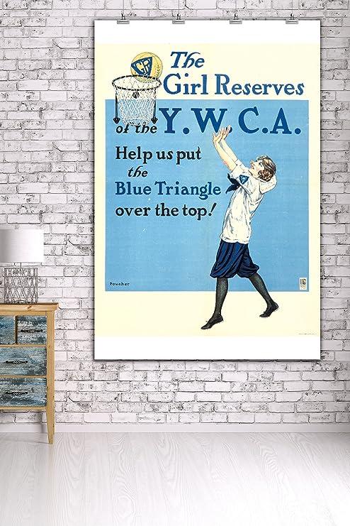 Amazon.com: YWCA – La niña Reservas clásico Cartel (Artista ...