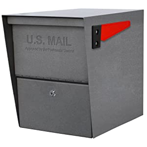 Mail Boss 7205 Package Master Curbside Locking Security Mailbox, Granite