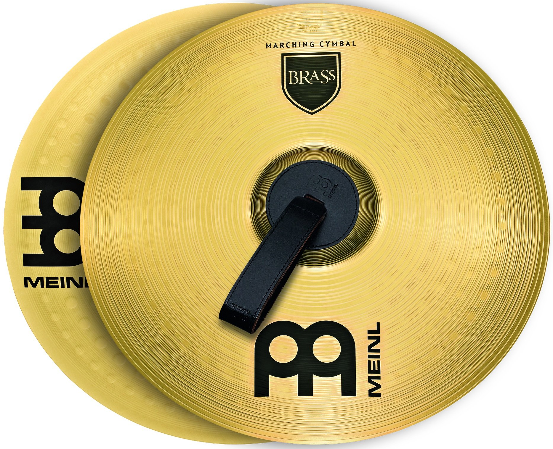 Meinl 13'' Marching Cymbal Pair with Straps - Brass Alloy Traditional Finish - Made In Germany, 2-YEAR WARRANTY (MA-BR-13M) by Meinl Cymbals