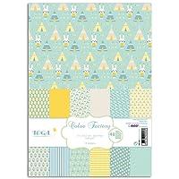 Toga PPK001 Naissance Lot DE 48 Feuilles Imprimées Papier Multicolore