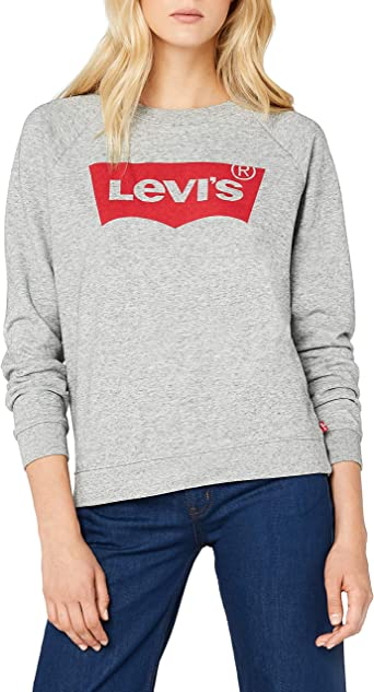 TALLA XS. Levi's Relaxed Graphic Crew Sudadera para Mujer