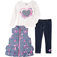 Kids Headquarters Baby Girls 3 Pieces Vest Pants Set