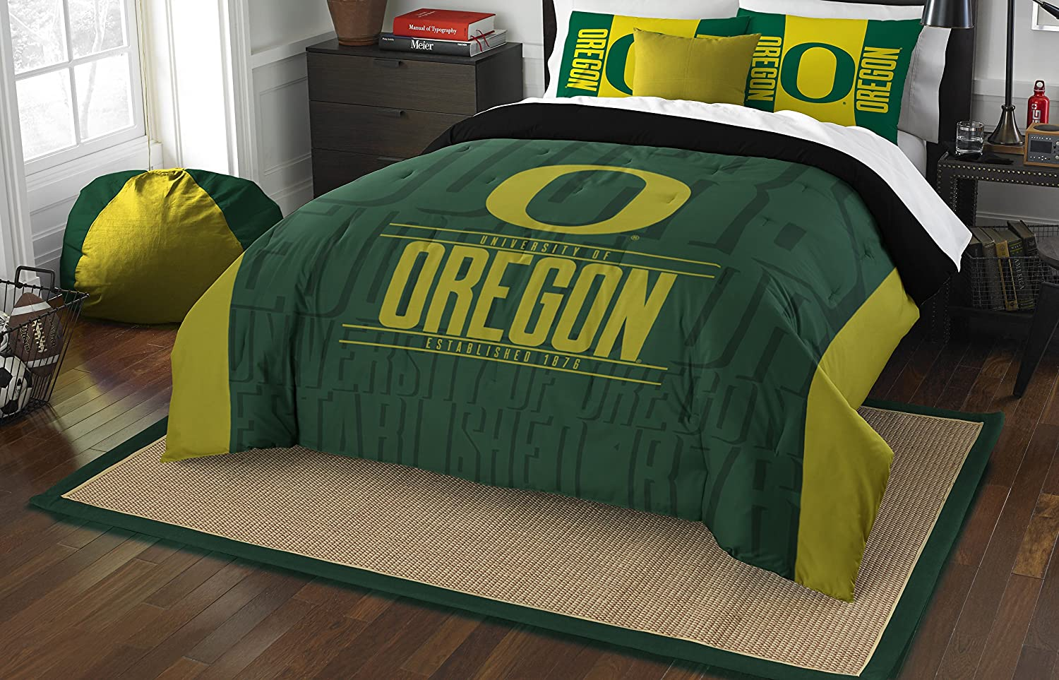 "Officially Licensed NCAA ""Modern Take"" Full/Queen Comforter and 2 Sham Set"