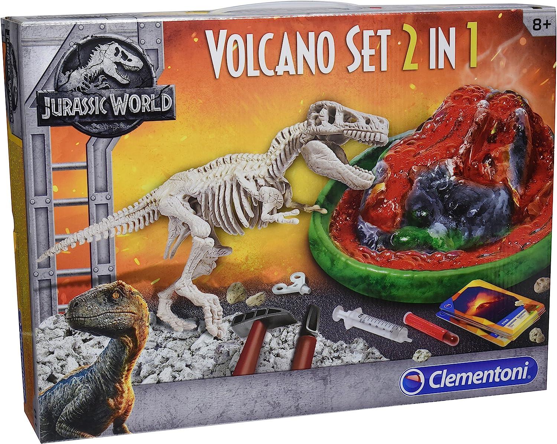Clementoni- Jurassic World: T-Rex + Volcán, Multicolor, Talla Única (19064) , color/modelo surtido: Amazon.es: Juguetes y juegos