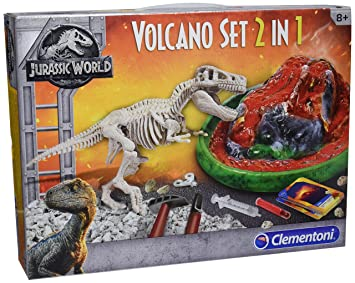 Clementoni archéo Ludic Jurassic World – T-Rex y volcán, 19064, multicolor