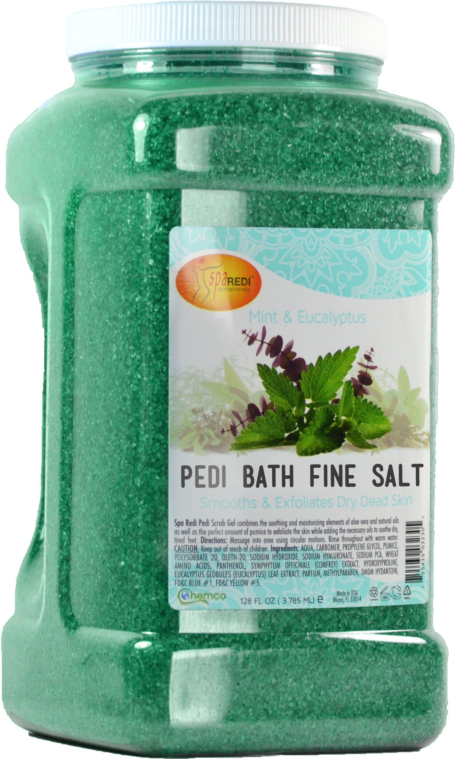 Spa Redi Pedi Bath Fine Salt, Mint & Eucalyptus, 1-Gallon by SPA REDI