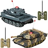 Best Choice Products RC Battling Tanks Set of 2 Full Size Infrared Radio Remote Control Battle Tanks Perfect Gift
