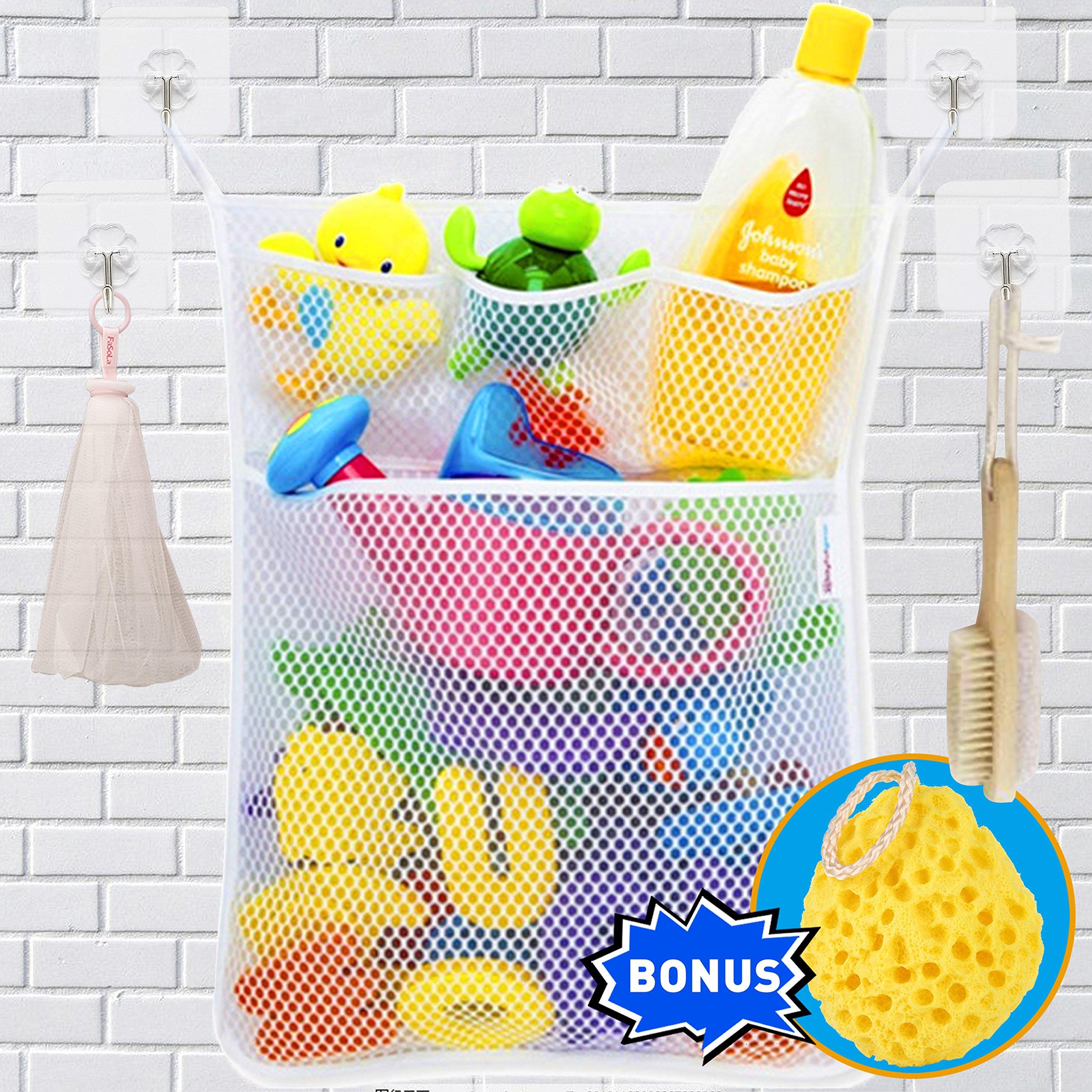 Wemk Cuarto de baño de almacenamiento de juguete de almacenamiento de red Bolsa de juguete con