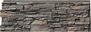 NextStone Polyurethane Faux Stone Panel - Country Ledgestone - Appalachian Gray (4 Panels per Box)