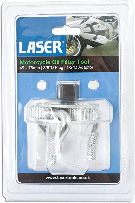 Laser 4718 3 Jaw Motorcycle Oil Filter Tool 45-75mm