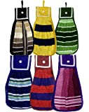 Weavers Villa Set of 6 Fancy Hanging Soft Plush Hand Towels