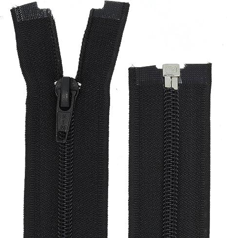Spiral Reißverschluss Teilbar Zipper Nummer 5 Jacke Schwarz