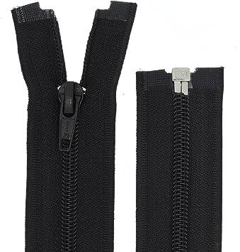 FIM Reißverschluss Kunststoff Spirale Nr.5 Teilbar für Jacken Farbe: 1 schwarz (322), 30cm lang