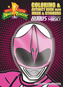 Bendon Coloring and Activity Book with Mask (Pink Mask), Power Rangers