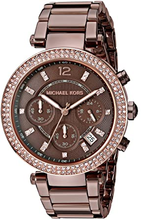 97a5ed04eb71 Amazon.com  Michael Kors Women s Parker Brown Watch MK6378  Michael Kors   Watches