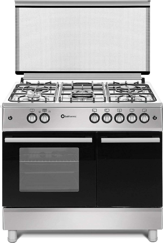 Cocina SolThermic F9LT50G2-I INOX PORTABOMBONA de color INOX compuesta por 5 Quemadores y Horno Incorporado.: Amazon.es: Grandes electrodomésticos