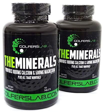 Amazon.com: The Minerals - Calcium, Magnesium, Vitamin D3 from Golfers Lab mineral supplement: Health & Personal Care