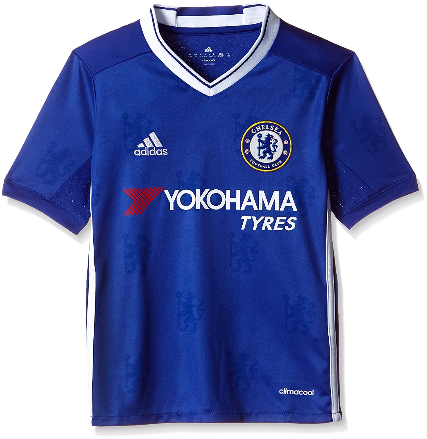 Amazon.com : Adidas Chelsea FC 2016/17 SS Home Jersey - Youth - Chelsea Blue/White - : Sports & Outdoors