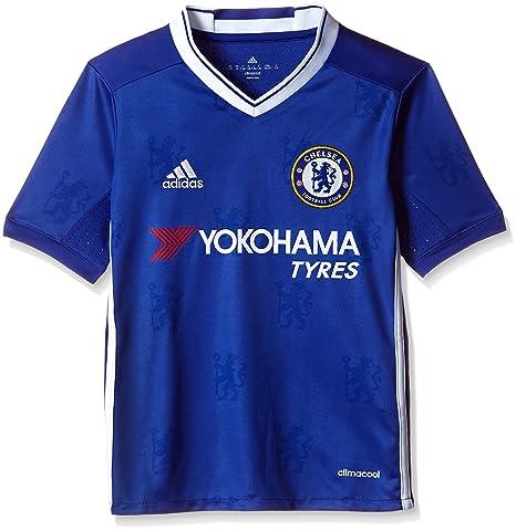 Adidas H JSY Y Camiseta 1ª Equipación Chelsea FC 2015/16, Niños, Azul