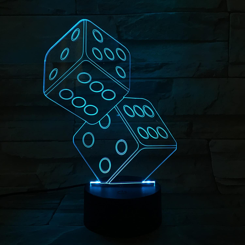 3D ナイトライト B072K3BGV4 10609 Dices Dices