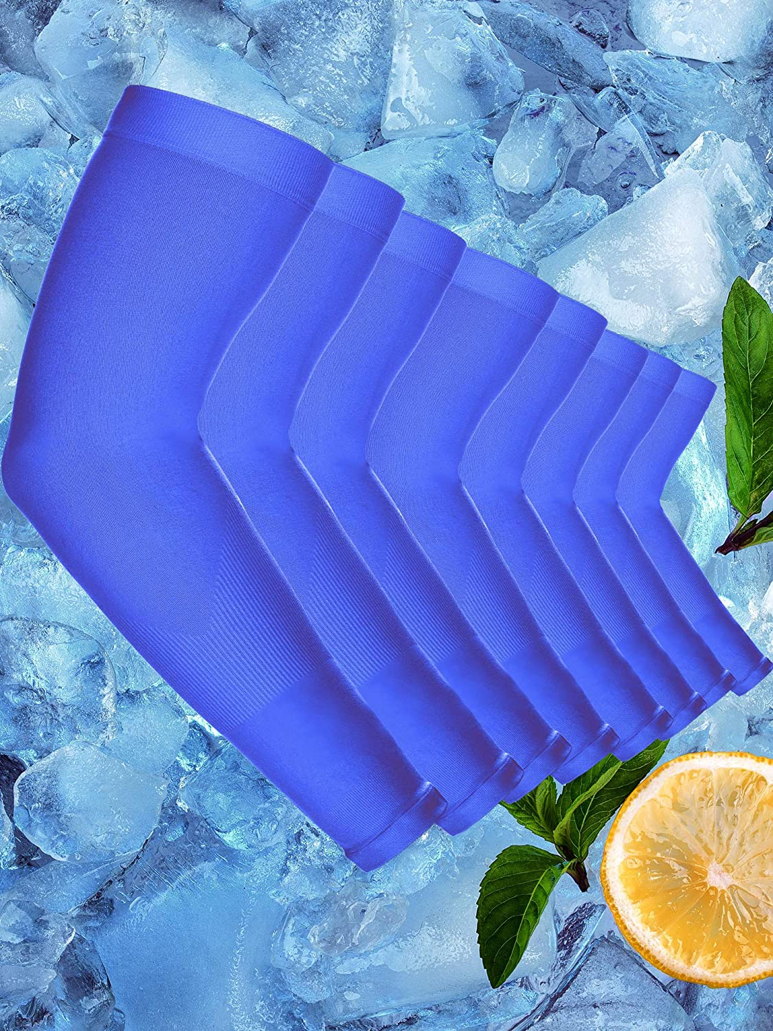 8 Pairs Unisex Cooling Arm Sleeves Ice Silk UV Sun Protective Glove