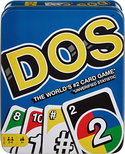 NEW Mattel Games UNO DOS Card Game classic family card game!